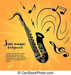 Saxophone music poster