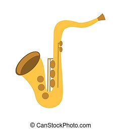 saxophone musical instrument icon