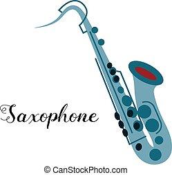 Saxophone musical instrument. Illustration of a saxophone....