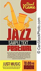 saxophone musical instrument label