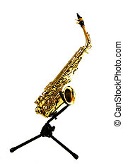 Saxophone on a Stand