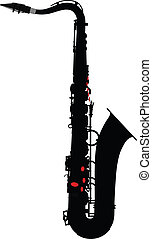 saxophone outline silhouette