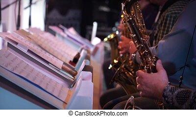 Saxophone player jazz music