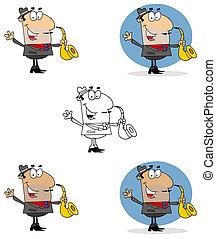 Saxophone Player Man