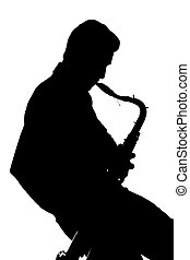 Saxophone player