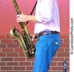 Saxophone player.