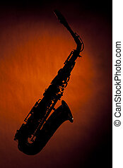 Saxophone Silhouette Isolated Gold