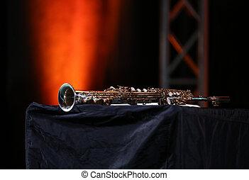 Saxophone soprano jazz music instrument