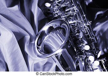 Saxophone - picture of a beautiful golden saxophone