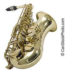 Saxophone - Sliced photographies different music instrument