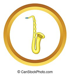 Saxophone vector icon