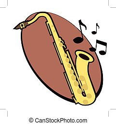 saxophone with notes