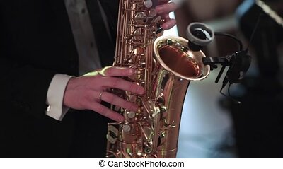 Saxophonist at the party