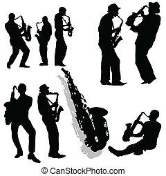 Saxophonist player
