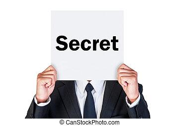Say secret word on paper