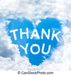 Say Thank you concept tell by shy cloud nature - sky cloud...