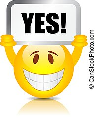Say yes vector emoji