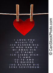 Saying I love you in different languages