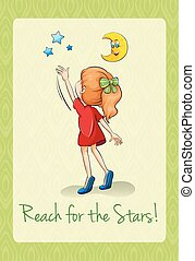 Saying reach for the stars