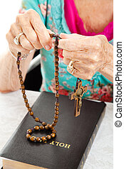 Saying the Rosary