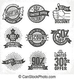 sazonal, descontos, vendas, logotipos
