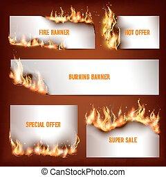 sazonal, fregueses, jogo, desconto, fogo, vendas, estratégico, atração, quentes, anúncio, bandeiras