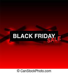 sazonal, grande, sexta-feira, sales., venda, pretas, bandeira
