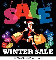 sazonal, inverno, venda