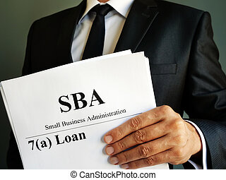 SBA 7a loan Small Business Administration agreement.
