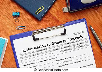 SBA form 33 Authorization to Disburse Proceeds