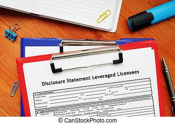 SBA form 856 Disclosure Statement Leveraged Licensees