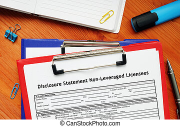 SBA form 856A Disclosure Statement Non-Leveraged Licensees