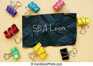SBA Loan phrase on the sheet.