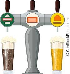 sbarra, rubinetto birra