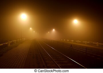 sbarre, in, il, nebbia