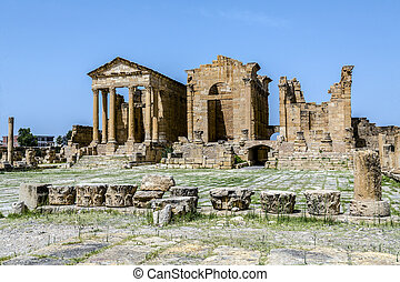 sbeitla, ローマの残骸, sufetula