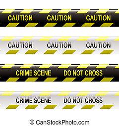 scène crime, bande