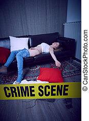 scène, crime