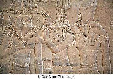 scène, egyptisch
