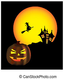 scène halloween