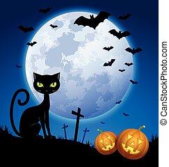 scène halloween, terrifiant