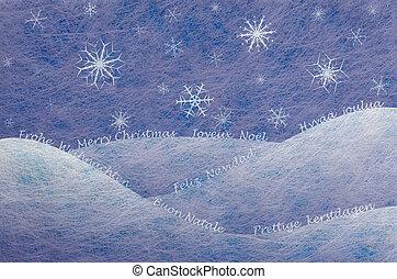 scène, hiver, carte, noël