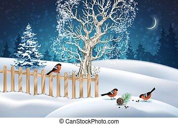 scène hiver, noël