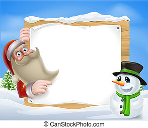 scène hiver, santa, noël