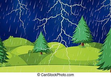 scène nature, orage