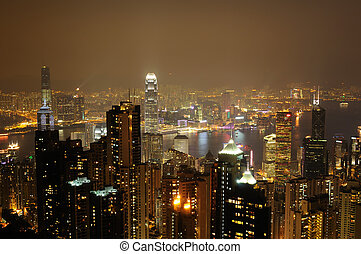 scène nuit, fo, hong kong