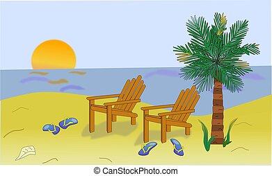 scène plage
