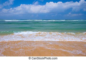 scène plage, paisible