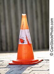 scène, sécurité routière, cône