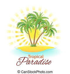 scène tropicale